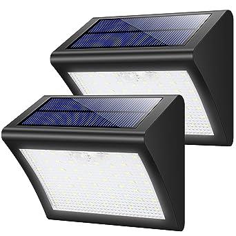 Garten & Terrasse 2x Led Solarleuchten Solarlampe Gartenlampe Solar Wandleuchte Bewegungsmelder Beleuchtung