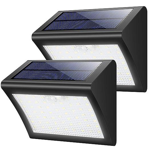 Lampe Solaire Exterieur Yacikos 60 Led Lumiere Solaire Securite Etanche Avec Detecteur De Mouvement Sans Fil Eclairage Solaire 3 Modes Luminaire Pour