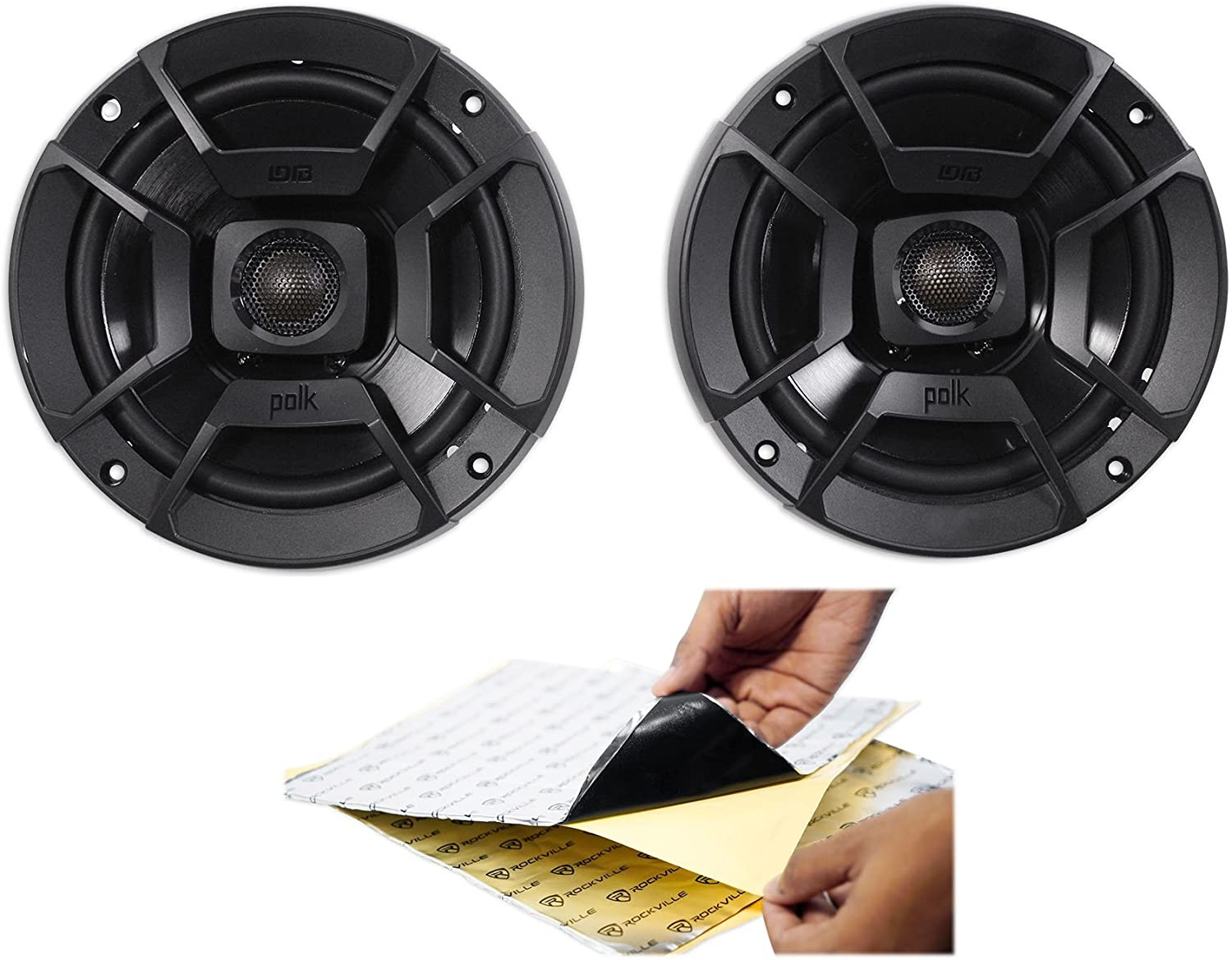 "(2) Polk Audio DB652 6.5"" 300 Watt Car Audio Speakers + Rockmat 71PZKVDnxMLSL1500_"