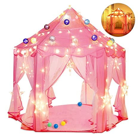 Besteamer Kids Indoor Princess Castle Play Tents Princess Tent Children Game Play Toys Tent  sc 1 st  Amazon.com & Amazon.com: Besteamer Kids Indoor Princess Castle Play Tents ...