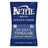 Kettle Brand Potato Chips, Sea Salt and Vinegar, 5 Ounce (Pack of 15)