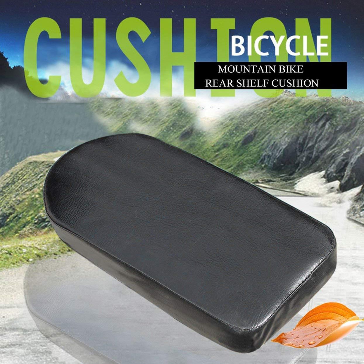 Sedile per seggiolino auto comodo Cuscino del sedile posteriore per bici da corsa Bicicletta con schienale sedile con schienale regolabile con elettromagnetico nero