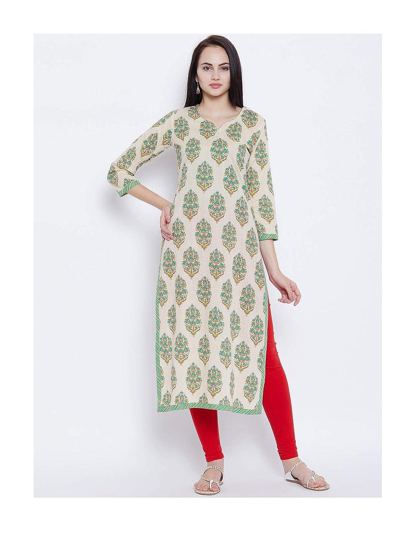 519f17a58375f Amazon.com: Hiral Designer mall Indian Women Off-White Floral Print ...