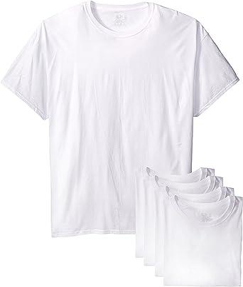 Fruit of the Loom Mens Stay Tucked Crew T-Shirt FTL-6P2828 White, Medium // 38-40 Chest