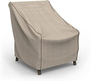 Budge P1A02PM1 English Garden Patio Chair Cover, Extra Small, Tan Tweed