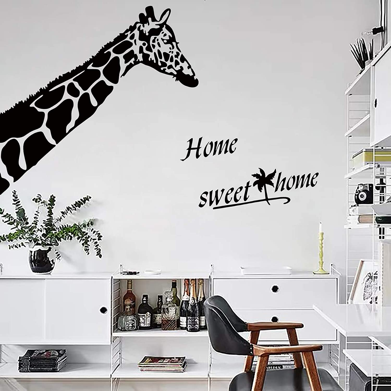 BIUBIUGO Giraffe Safari Wall Sticker for Living Room, Kids Room Decor for Girls Boys,Cute Giraffe Nursery Wall Decal, Modern Sweet Home Decoration