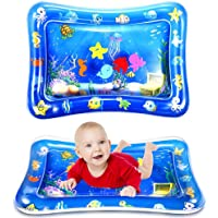 WSPER Tummy Time Water Mat Inflatable Baby Water Play Mat for 3+ Months Newborn Infants Sensory Development and…