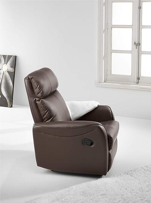 Adec - Sillon relax palanca slim, medidas 74 x 78 x 98 cm, color negro