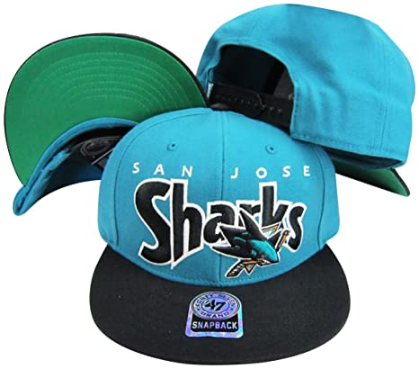6720c5a305b Image Unavailable. Image not available for. Color  San Jose Sharks Teal  Black Two Tone Plastic Snapback Adjustable Plastic Snap Back Hat