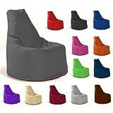Sitzsack Sessel - für Kinder und Erwachsene - In & Outdoor Sitzsäcke Kissen Sofa Hocker Sitzkissen Bodenkissen mit Styropor Füllung - verschiedene Farben - Bean Bag Sitzsäcke Möbel Kissen (Anthrazit)