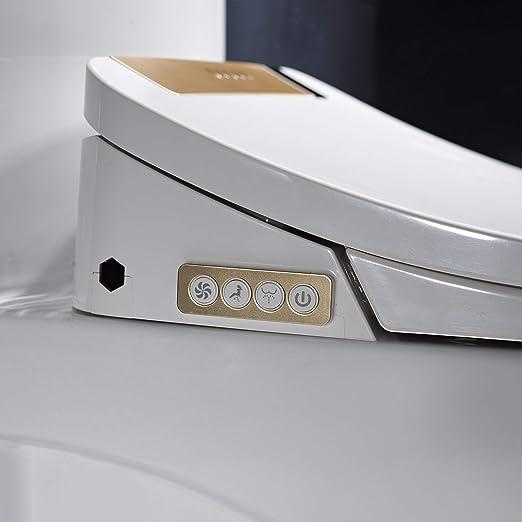 FOHEEL - Asiento de inodoro inteligente con pantalla LCD, control remoto inalámbrico, color dorado, plateado, rosa y negro 1800.00W, 220.00V: Amazon.es: Bricolaje y herramientas