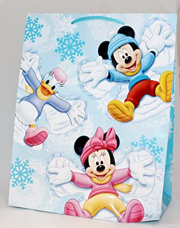 1ae348503 Image Unavailable. Image not available for. Color: Large Disney Christmas  Gift Bag - Mickey, Minnie Mouse ...