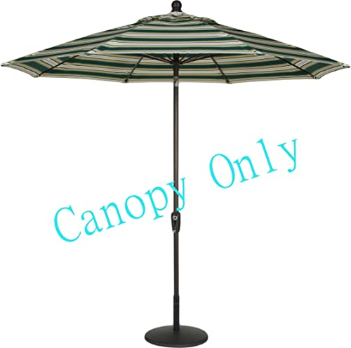 Sunbrella Canopy Replacement for 9ft 8 Ribs Patio Umbrella- Stripe Canopy Only