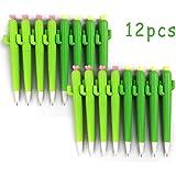 Leisial Creativas Bolígrafos de Tinta Cactus Plata Gel de Lindo Papelería Subrayadores Oficina Papelería de Estudiante 0.38mm