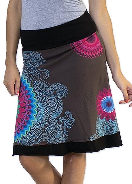 Coton du Monde-Falda, Color Gris Multicolor 40: Amazon.es: Ropa y ...