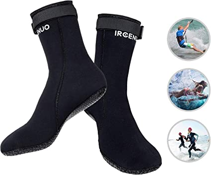 MEIBY Neoprene 3MM Beach Socks Anti-Slip Water Swimming Diving Surfing Snorkeling Shoes Socks for Men Women