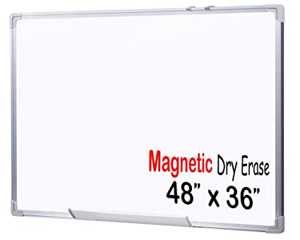 Amazon.com : EGI MWB901201 48x36-Inch Magnetic Dry Erase White Board ...