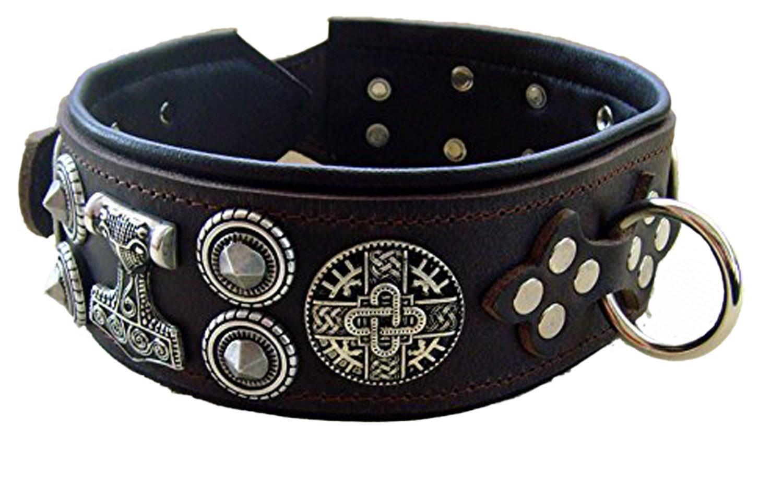 Halsband XXL 6,5 cm breit Model Gustav für Starke und kräftige Hunde Halsumfang 55-57 cm
