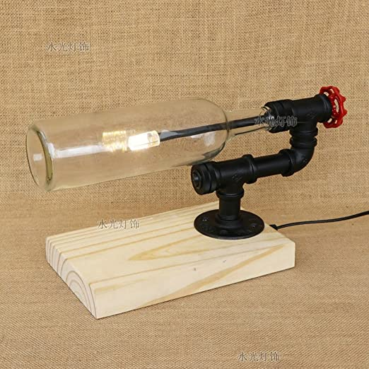 Lámpara de mesa Retro Nostálgico Simple Industrias Botella de ...
