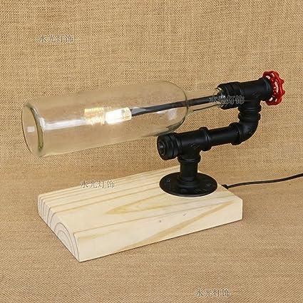 Lámpara de mesa Retro Nostálgico Simple Industrias Botella ...