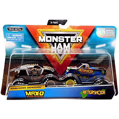 Monster Jam, Official Max D Vs. Aftershock Die-Cast Monster Trucks, 1: 64 Scale, 2 Pack: Toys & Games