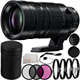 Panasonic Leica DG Vario-Elmar 100-400mm f/4-6.3 ASPH POWER O.I.S. Lens 12PC Accessory Kit. Includes Manufacturer Accessories + 3PC Filter Kit (UV-CPL-FLD) + 4PC Macro Filter Set (+1,+2,+4,+10) + Cap Keeper + Microfiber Cleaning Cloth