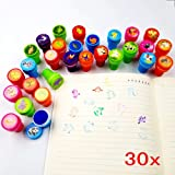 Teacher Stamps Kesoto 26 Pieces Assorted Stamps for Kids Self-Inking Stamps Animal Nautical Stamps Sea Ocean Stamps Party Favor