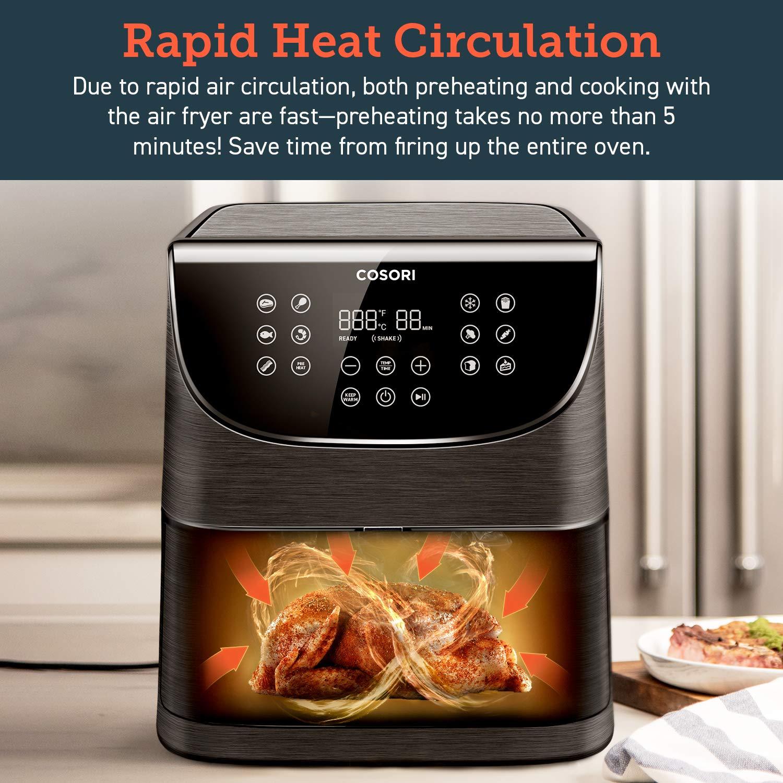 Amazon.com: Cosori - Freidora de Aire (100 Recetas), horno ...