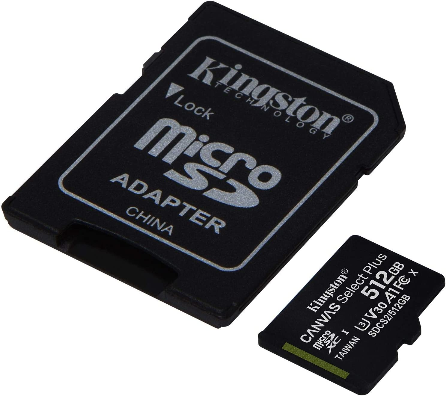 Kingston 512GB Lenovo A7000 MicroSDXC Canvas Select Plus Card Verified by SanFlash. (100MBs Works with Kingston)