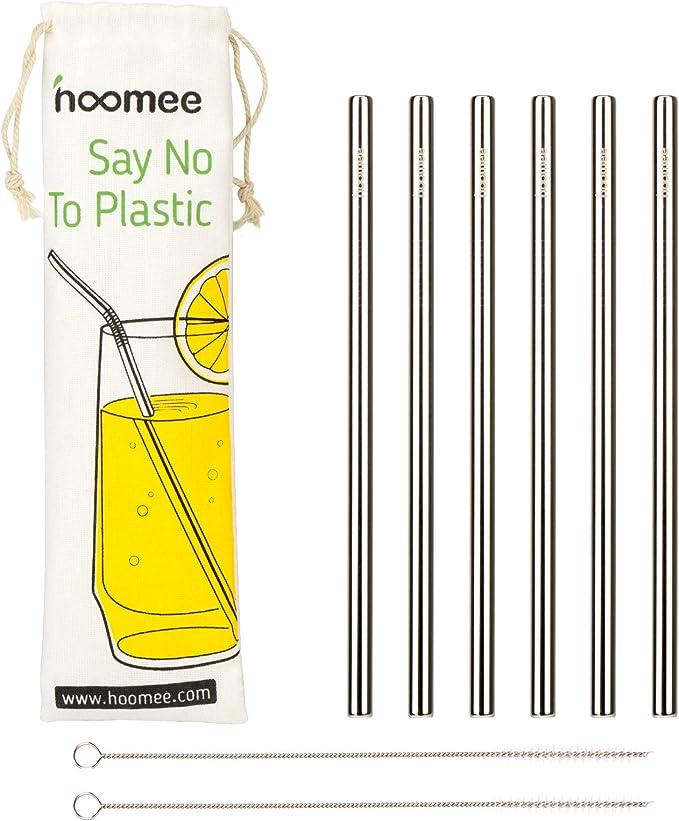 150 opinioni per HOOMEE Cannucce in Acciaio Inox Riutilizzabili (Set da 6) con Diametro da 9 mm,