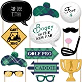 Par-Tee Time - Golf - Photo Booth Props Kit - 20 Count