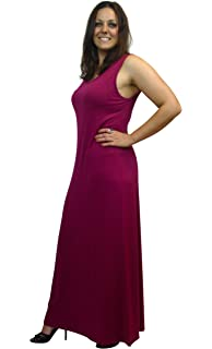 4ffb722045d eXtraLovely Women s Plus Size Full Length Maxi Dress Tank Style Sleeveless