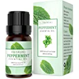 ASAKUKI Peppermint Essential Oil, 100% Pure Therapeutic Grade Aromatherapy Oil 10ML, Natural Plant Extract Scented Oil for Diffusers or Humidifiers