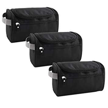 Amazon.com   Toiletry Bag 3 Pack Travel Toiletries Bag Sturdy Hanging  Organizer for Women Men Cosmetic Make up Bag Case (Black)   Beauty 0573e5b60faee