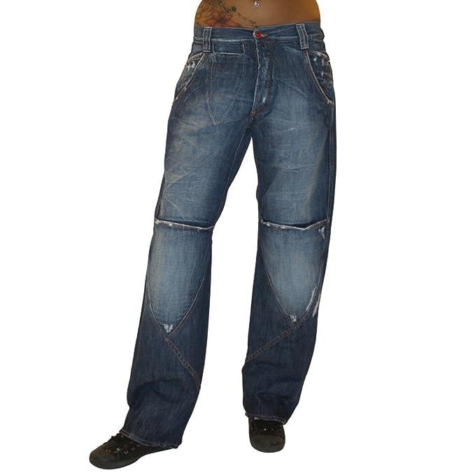 MET Diseño Mujer Jeans Pantaloni - Pantalones Vaqueros Baggy ...