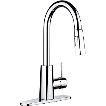 Sink Faucet. pH7 Single Handle Pull Down Sprayer Kitchen Sink Faucet Chrome  Faucets with Deck Plate