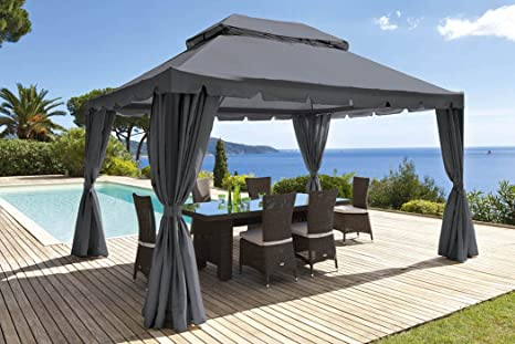Tende per gazebo in poliestere 160 g m² color beige dimensioni