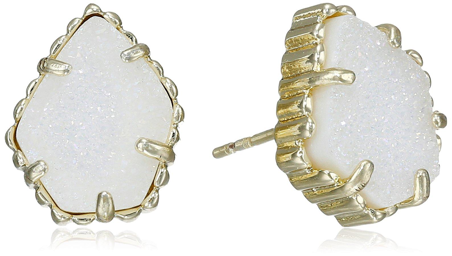 Kendra Scott''Signature'' Tessa Gold plated Iridescent Drusy Stud Earrings