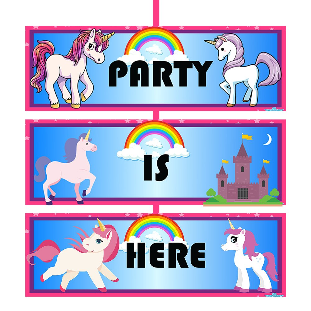 Unicorn Birthday Party Door Board for Unicorn Party Supplies