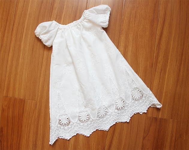 318b56c03aa SALE Handmade White Baptism Dress Short Sleeves Baby Girl ...