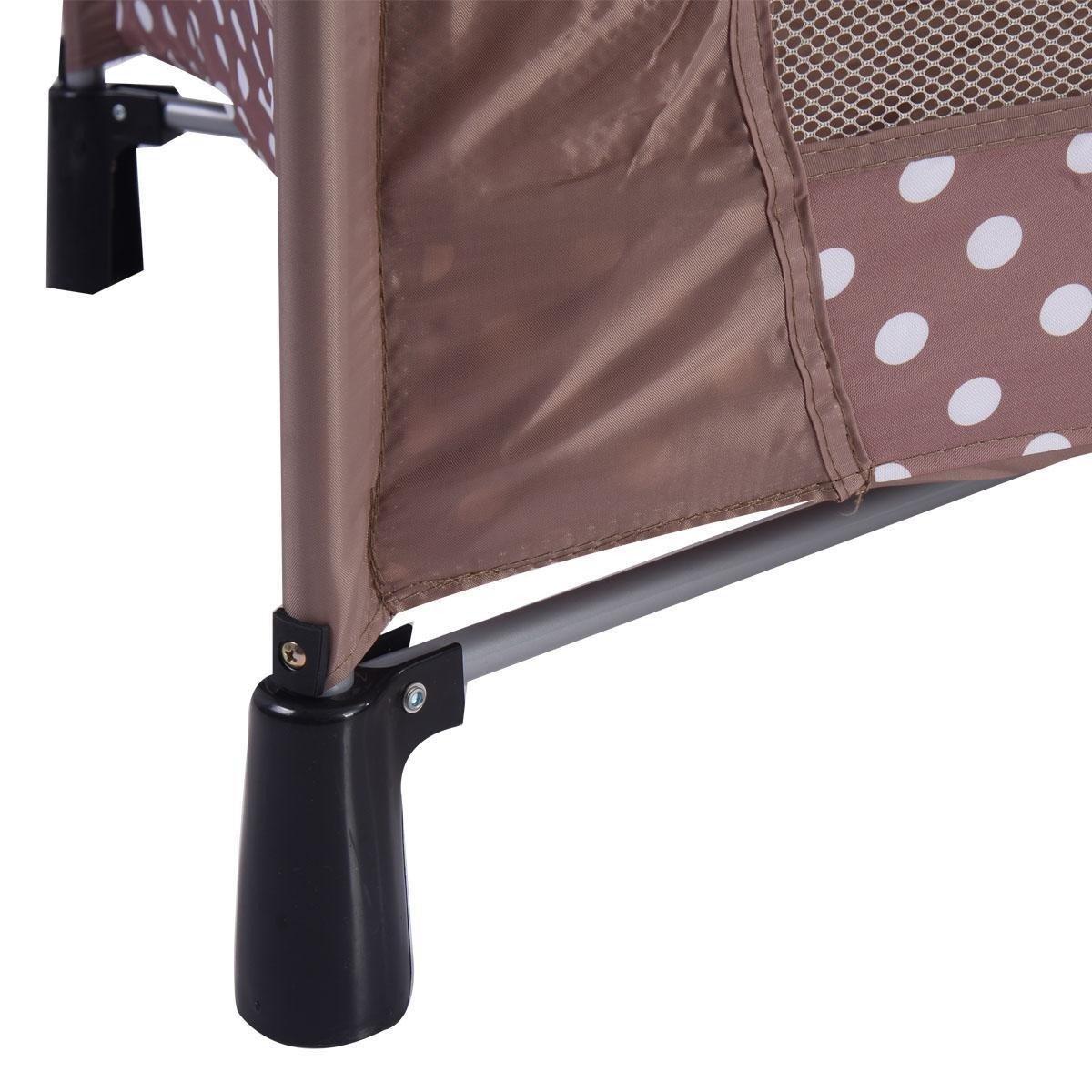 Beige Sleeping Playpen Baby Bassinet Portable Bed Crib Infant Children Kids Furniture With Ebook