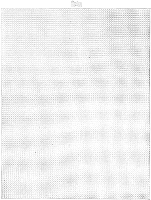 Darice 10.5 x 13.5-Inch 7 Plastic Canvas Count Pack of 12 Clear GIFT NEW