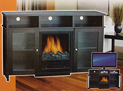 Amazon cc home furnishings 52 sylvania entertainment center cc home furnishings 52quot sylvania entertainment center console ventless electric indoor fireplace teraionfo