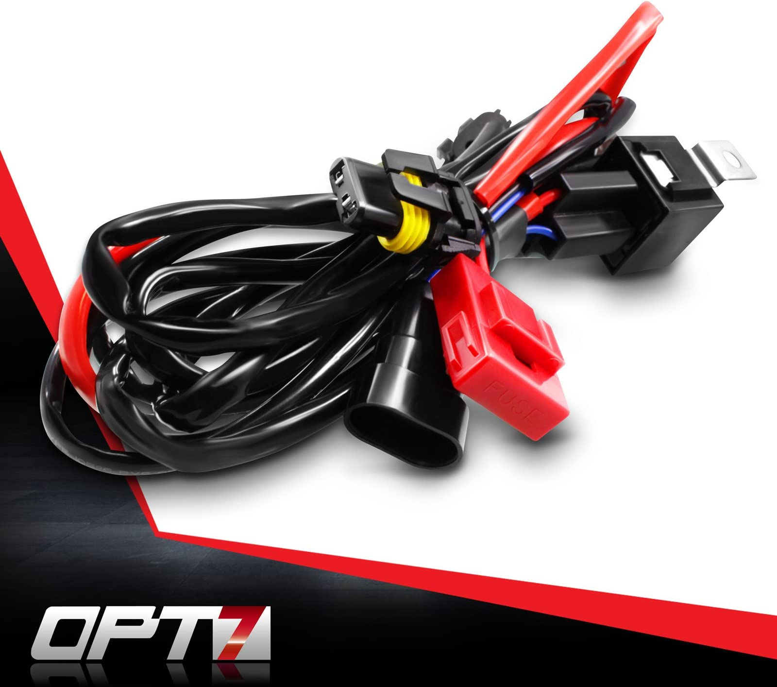 amazon com hid kits lighting conversion kits automotiveopt7 hid relay harness anti flicker power wiring for opt7 xenon kits