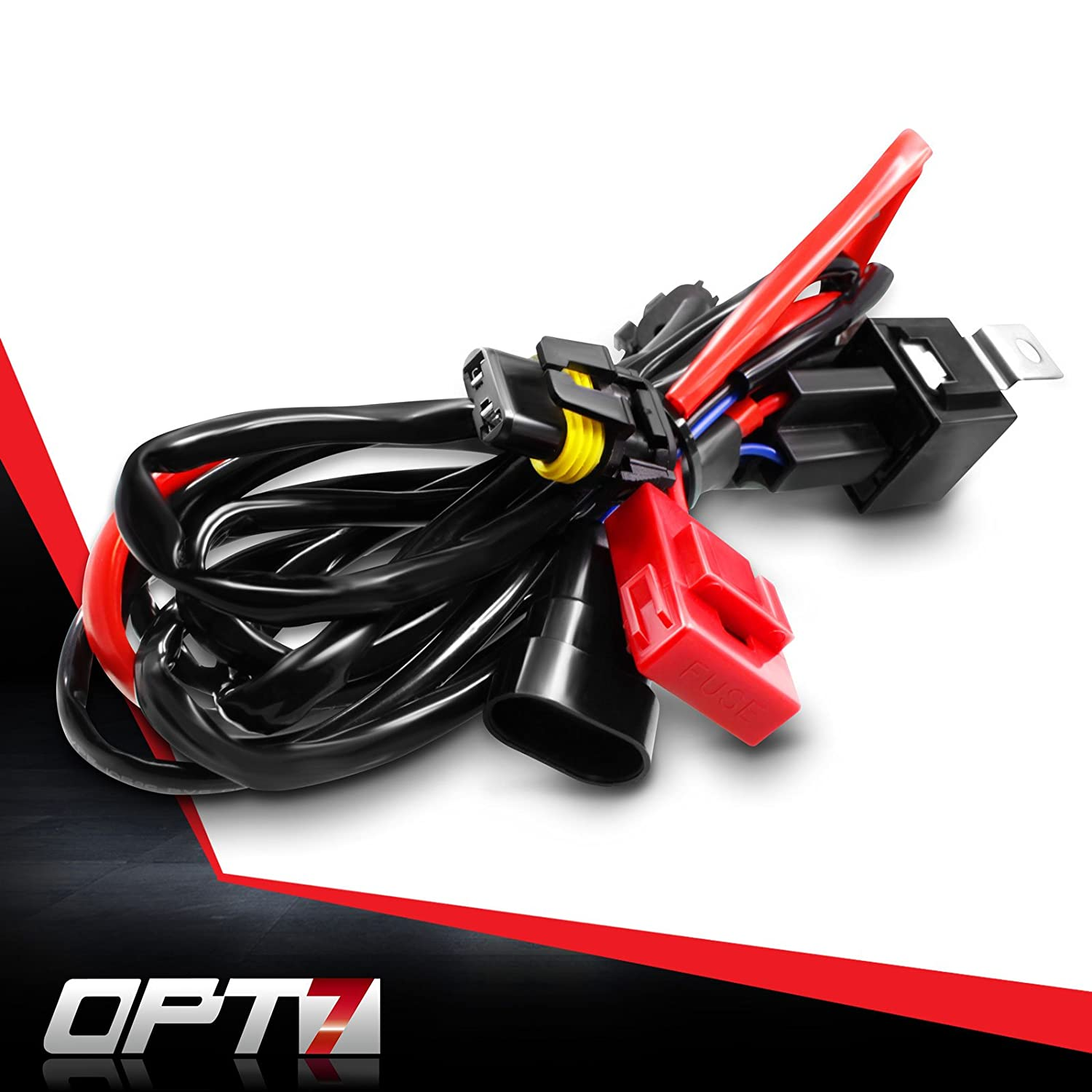 Opt7 Hid Relay Harness Anti Flicker Power Wiring For 1991 Jeep Cherokee Sport Headlight Xenon Kits Automotive