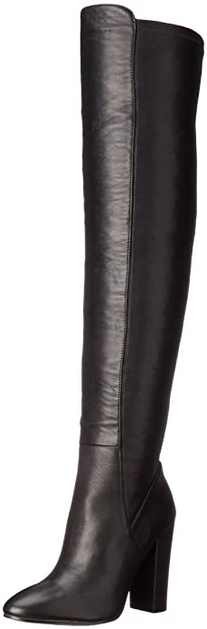 ALDO Women's Antella Riding Boot, Black Leather, ...