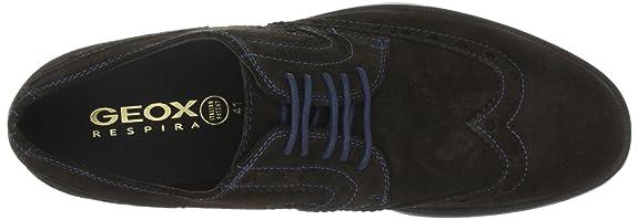 Geox UOMO BLADE Mblade8 - Zapatos de cordones de ante para hombre, color  marrón, talla 43.5: Amazon.es: Zapatos y complementos