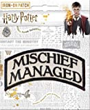 """Ata-Boy Harry Potter Mischief Managed 3"""" Full Color Embroidery Iron-On Patch"""