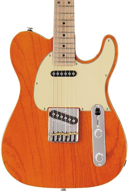 G & L antisatélite Classic guitarra eléctrica Claro Naranja