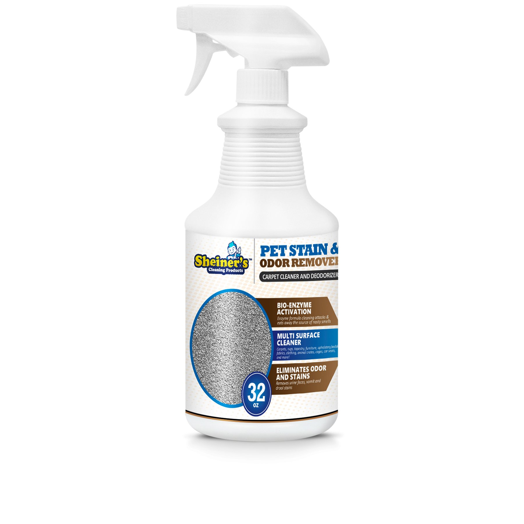 Sheiner's Pet Stain Odor Remover, Professional Strength Enzyme Powered Cleaner (32, 32.00)